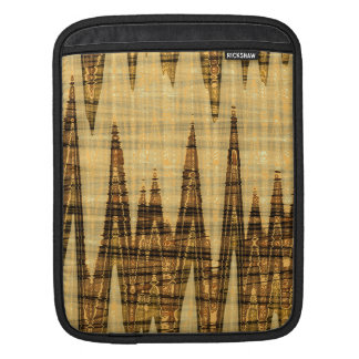 Wavy golden abstract sleeve for iPads