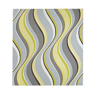 Wavy Gray and Yellow Stripes Notepad