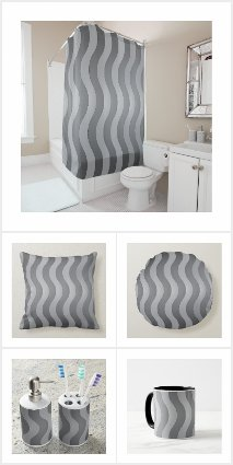Wavy Gray Stripes - Vertical
