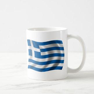 Wavy greece Flag Coffee Mug