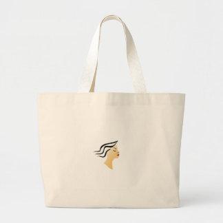 Wavy hair large tote bag