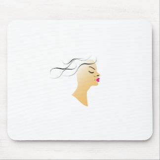 Wavy hairstyle mouse pad
