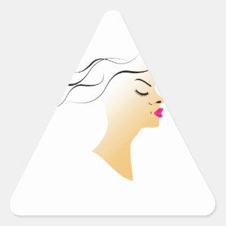 Wavy hairstyle triangle sticker