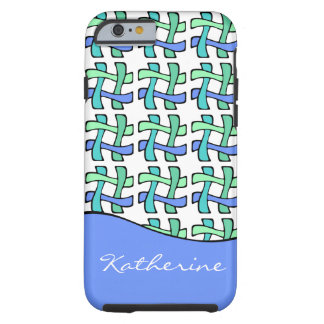 Wavy # Hashtag Plaid Personalized Social Media Tough iPhone 6 Case
