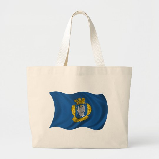Wavy Kiev Flag Large Tote Bag