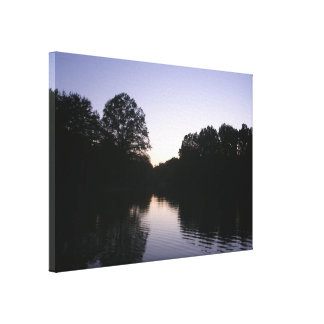 Wavy Lake Canvas Print