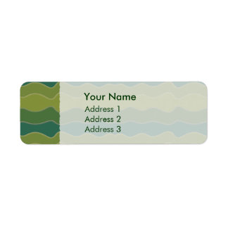 Wavy Lines Green Address Labels