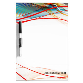Wavy Lines Modern Science and Technology Custom Dry-Erase Board
