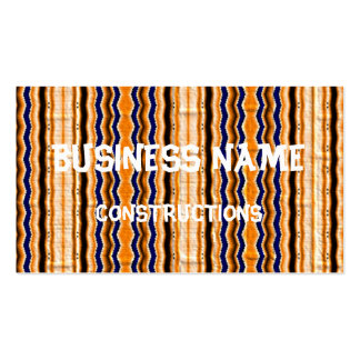Wavy lines pattern business card