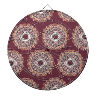 Wavy Lines pattern muted red Dartboards