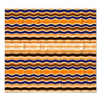 Wavy lines pattern photographic print