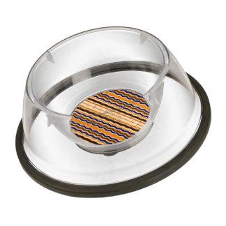 Wavy lines pattern pet bowl