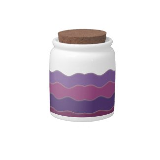 Wavy Lines Purple Candy Dish