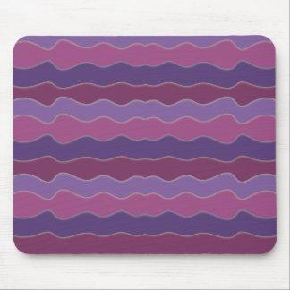 Wavy Lines Purple Mouse Pad