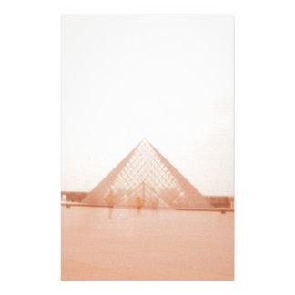 Wavy Louvre Customized Stationery