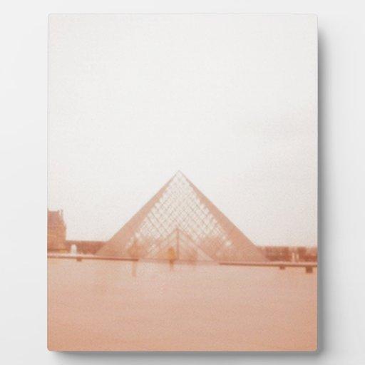 Wavy Louvre Photo Plaque