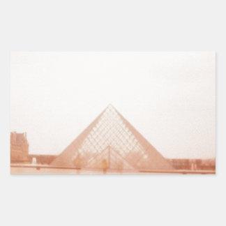 Wavy Louvre Rectangular Sticker