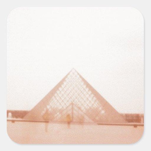 Wavy Louvre Square Sticker