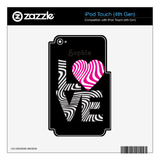 Wavy Love Decal For iPod Touch 4G