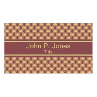 Wavy Marsala Brown Pattern Business Card
