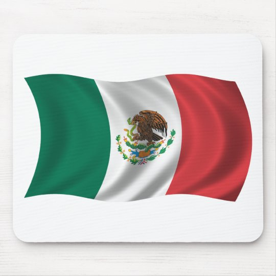Wavy Mexico Flag Mouse Pad