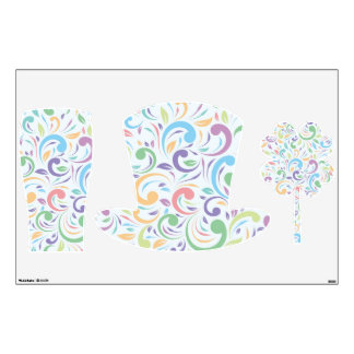 wavy,multi,color,fun,happy,pattern,floral,modern,t wall decal
