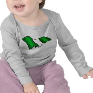 Wavy Nigerian flag for Nigeria admirers T-shirts
