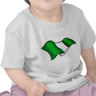 Wavy Nigerian flag for Nigeria admirers Shirts