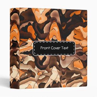 Wavy orange and brown binder