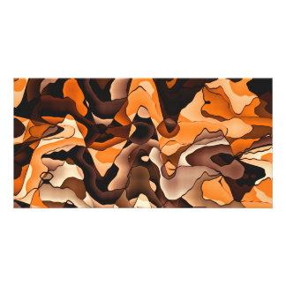 Wavy orange and brown card