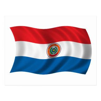 Wavy Paraguay Flag Postcard
