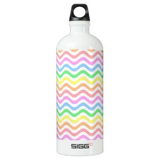 Wavy Pastel Lines Water Bottle