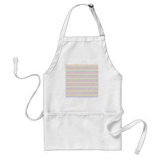 Wavy Pastel Rainbow Stripes Apron