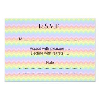 Wavy Pastel Rainbow Stripes Card