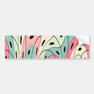 Wavy pastel shapes bumper sticker