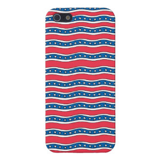 Wavy Patriotic Stars and Stripes Iphone Case Cover