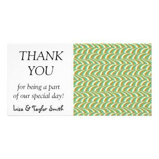 Wavy pattern card