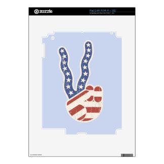 Wavy Peace Flag Hand Decal For iPad 2