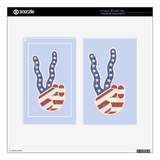 Wavy Peace Flag Hand Decals For Kindle Fire