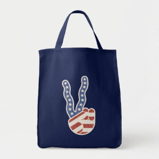 Wavy Peace Flag Hand Tote Bag