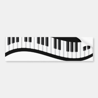 Wavy Piano Keyboard Bumper Sticker Car Bumper Sticker