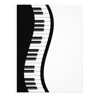 Wavy Piano Keyboard Flyer
