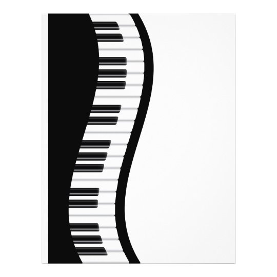 Wavy Piano Keyboard Flyer