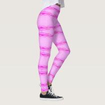 Wavy pink leggings