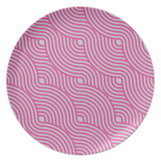 Wavy Pink Dinner Plate