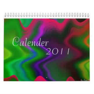 Wavy Rainbow Calendar