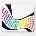 Wavy Rainbow Squares Abstract Layout Mouse Pads