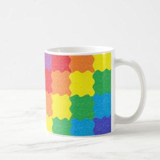 Wavy Rainbow Squares Mug