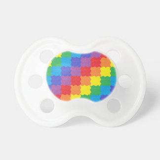 Wavy Rainbow Squares Pacifier