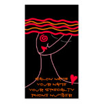 Wavy Red Hair Stylist Business Card